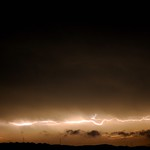 19. Märts 2020 - 23:12 - Lightning in the night sky as thunderstorms moved through the area.