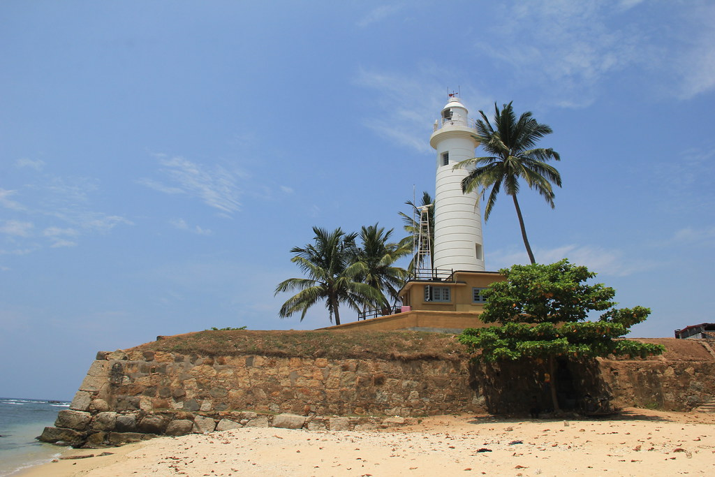 Galle Lighthouse, taken from Lighthouse Beach