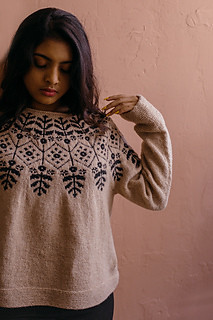 Whitney Hayward and all Harrisville Designs patterns are free until March 31st. This one is her Carlina Pullover.