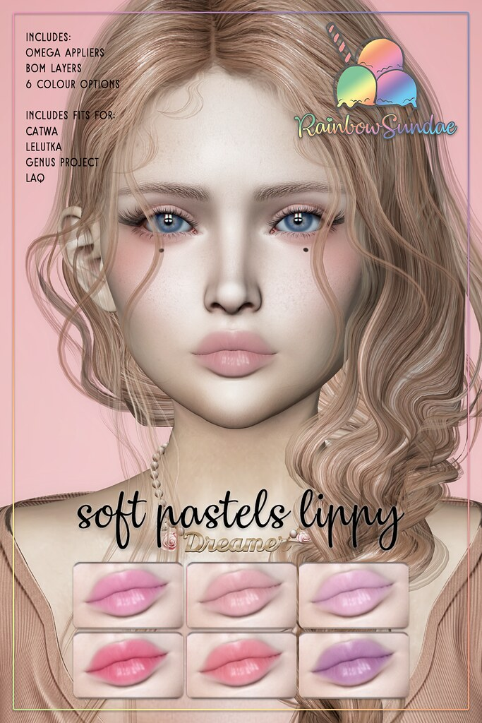 *Rainbow Sundae* Soft Pastels Lippy – The Saturday Sale