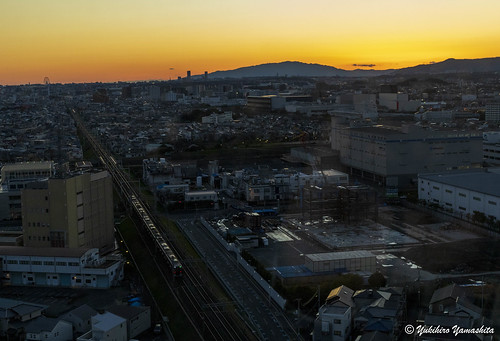 大阪 高槻市 高槻市役所 日没後 sundown sunset osaka japan takatsuki cityhall