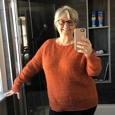Love the colour Lise chose to use for her The Purl Code by Isabell Kraemer!
