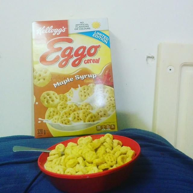 No rules #toronto #cereal #eggo #eggocereal #maplesyrup