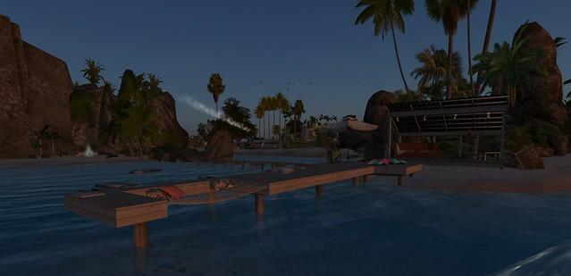Shell Islands, Brookings SE HS, sunset pier