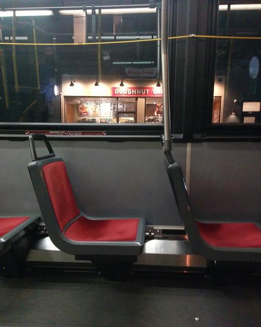 Passing by Krispy Kreme #toronto #ttc #buses #94wellesley #harbordstreet #krispykreme #coronavirustoronto #latergram