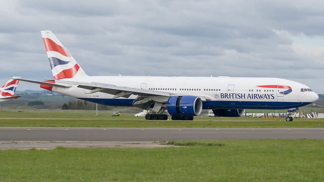 G-VIIB - British Airways 777 @ Cardiff Airport 20/03/20
