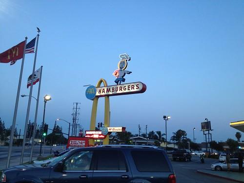 Speedee Sign - Oldest Operating McDonald's, Downey, CA