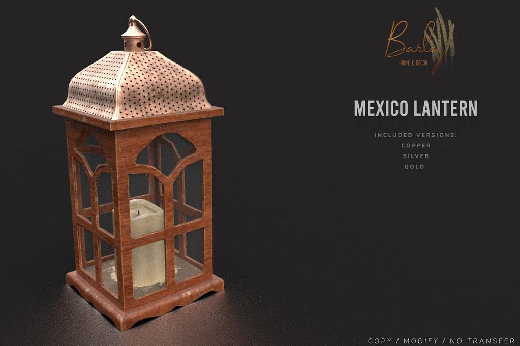 Barley – Mexico – Lantern @Belle