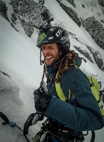Thu, 2020-03-19 12:54 - Jonno after climbing Minus Two Gully
