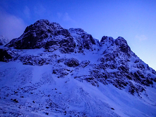 Thu, 2020-03-19 19:04 - Carn Deag Buttress and Venus in twilight