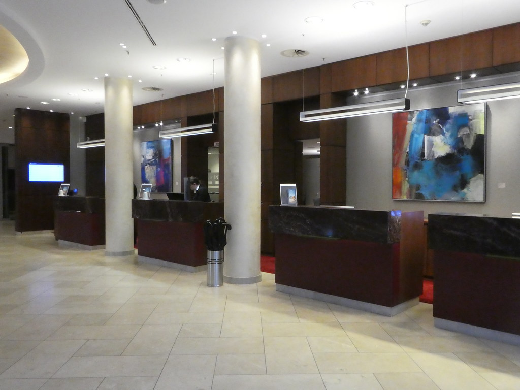 The reception desks at The Pullman Hotel, Cologne