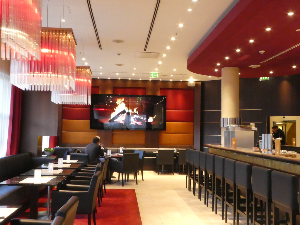 The lounge bar at The Pullman Hotel, Cologne