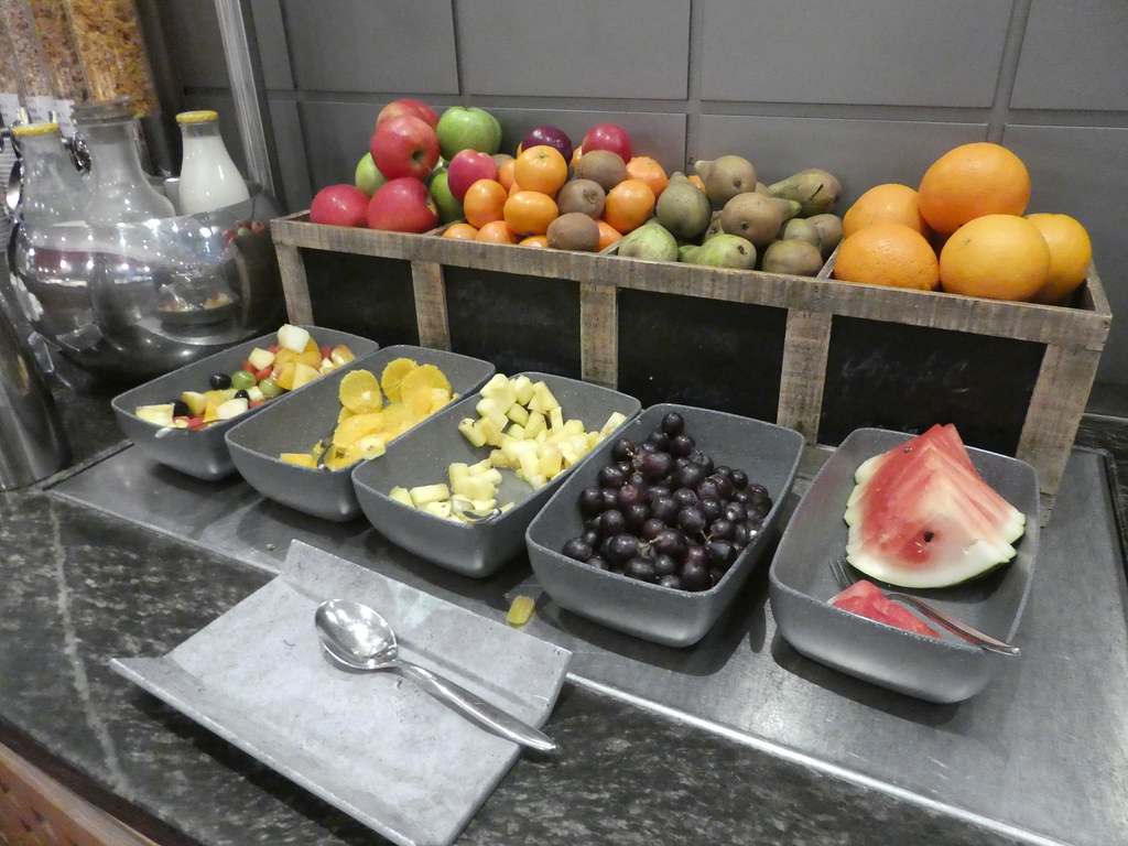 Fresh fruit selection from the breakfast buffet, Pullman Hotel, Cologne