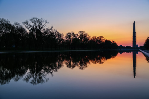 canon6d outdoors outside usa water pool reflectingpool monument trees landscape dawn sunrise reflections