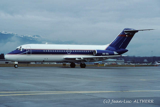 McDonnell Douglas DC-9-15 Aeroleasing HB-IFA. GVA, February 17. 1990