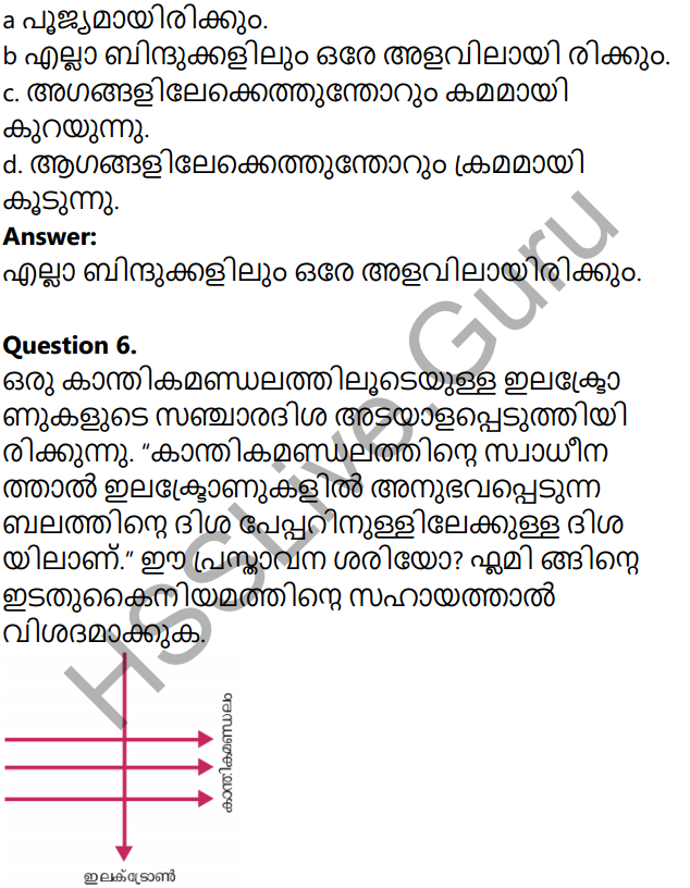 Kerala Syllabus 10th Standard Physics Solutions Chapter 2 Magnetic Effect of Electric Current in Malayalam 22