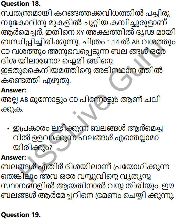 Kerala Syllabus 10th Standard Physics Solutions Chapter 2 Magnetic Effect of Electric Current in Malayalam 15