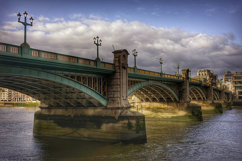 Southwark Bridge River Thames London