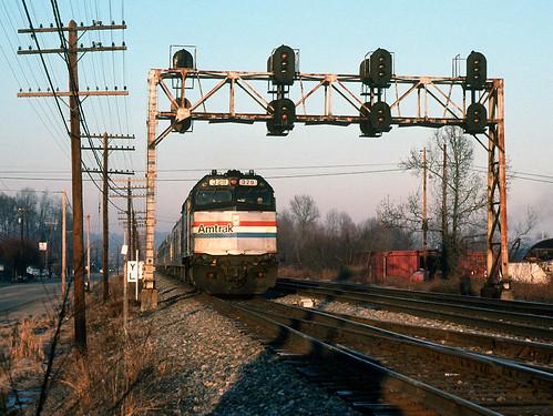 csx cincinnati northern subdivision amtrak cardinal 50 amtk 329 emd f40ph passenger train co