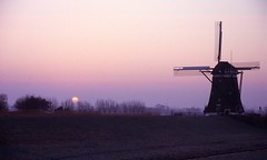 windmill and morning