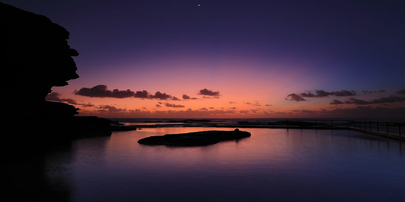 North Curl Curl pool, dawn