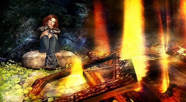 I See Fire...We will survive Covid-19 2020...Music inspired Art...Teddiebear Spearsong