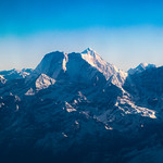 Mt Everest (Sagarmatha) from the cockpit