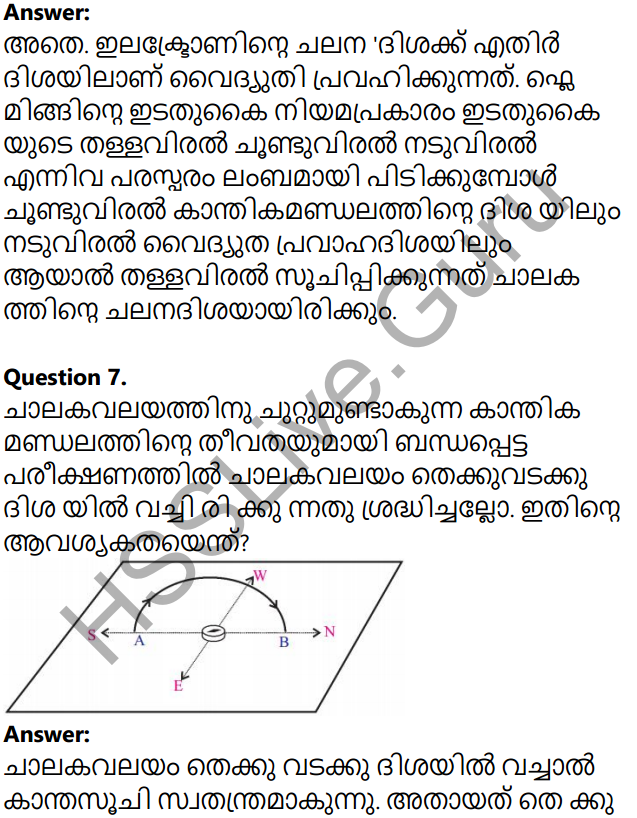 Kerala Syllabus 10th Standard Physics Solutions Chapter 2 Magnetic Effect of Electric Current in Malayalam 23
