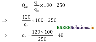 2nd PUC Statistics Question Bank Chapter 2 Index Number - 12