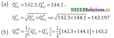 2nd PUC Statistics Question Bank Chapter 2 Index Number - 13