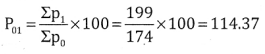 2nd PUC Statistics Question Bank Chapter 2 Index Number - 28