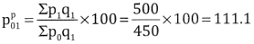 2nd PUC Statistics Question Bank Chapter 2 Index Number - 67