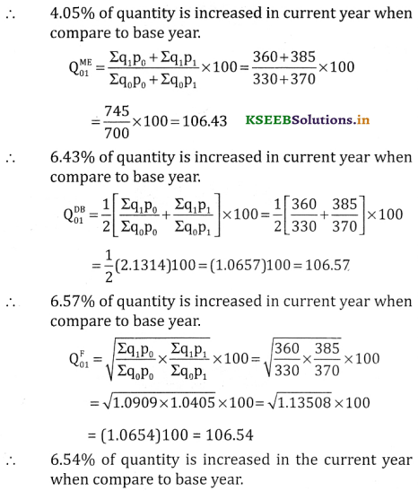 2nd PUC Statistics Question Bank Chapter 2 Index Number - 72