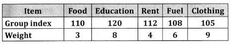 2nd PUC Statistics Question Bank Chapter 2 Index Number - 109