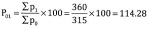 2nd PUC Statistics Question Bank Chapter 2 Index Number - 121