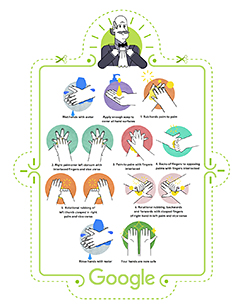 Print out this poster on proper handwashing techniques.