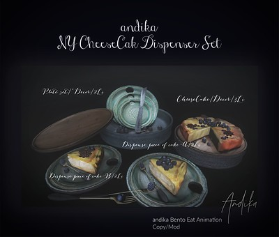 andika Group Gift:Ny CheeseCake Dispenser Set]