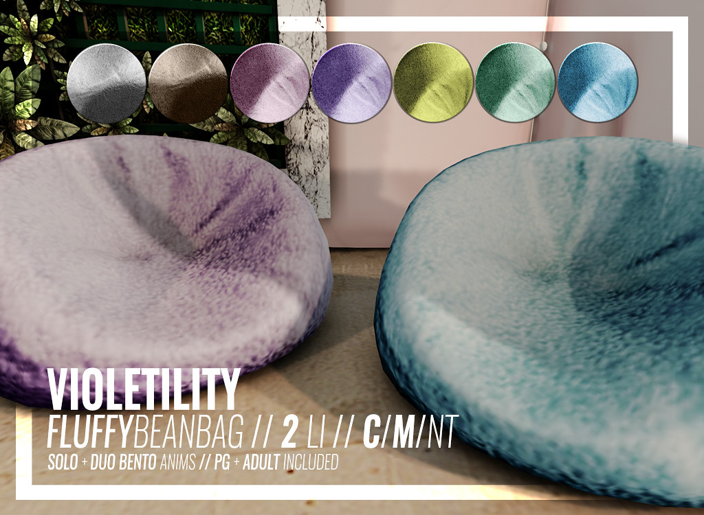 Violetility – Fluffy Bean Bag