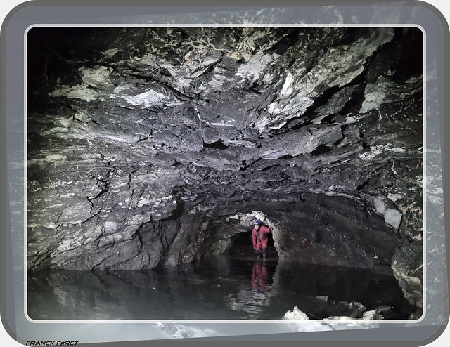 Daniel dans la Mine de Gypse des Roussets - Salins Les Bains - Jura