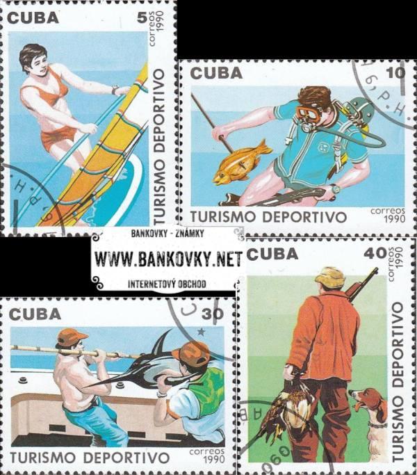 Známky Kuba 1990 Športová turistika - razítkovaná séria