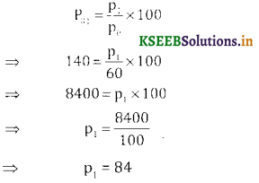 2nd PUC Statistics Question Bank Chapter 2 Index Number - 11