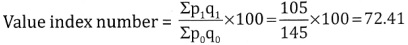 2nd PUC Statistics Question Bank Chapter 2 Index Number - 65