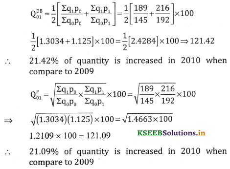 2nd PUC Statistics Question Bank Chapter 2 Index Number - 77