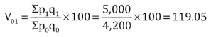 2nd PUC Statistics Question Bank Chapter 2 Index Number - 88