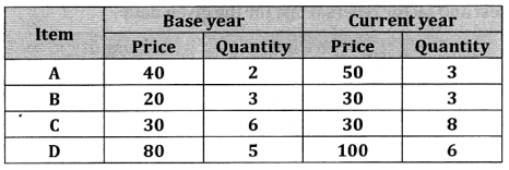 2nd PUC Statistics Question Bank Chapter 2 Index Number - 93