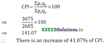 2nd PUC Statistics Question Bank Chapter 2 Index Number - 99