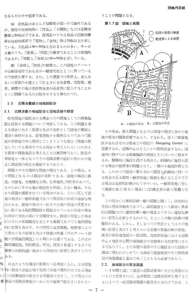 日本住宅公団団地内店舗研究 (4)