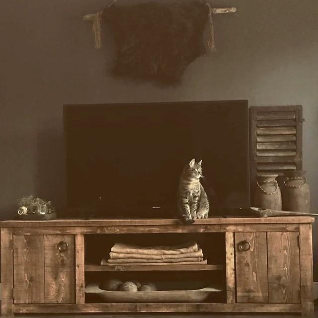 Houten TV-meubel landelijk sober