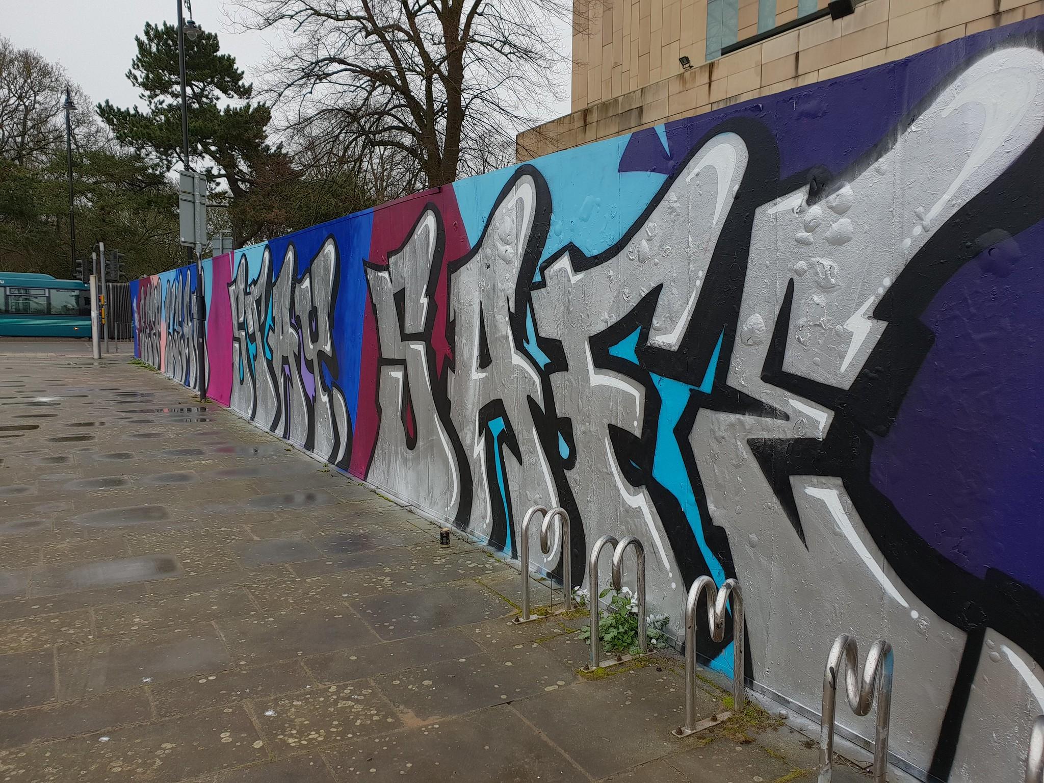 Millennium Walkway street art, Cardiff