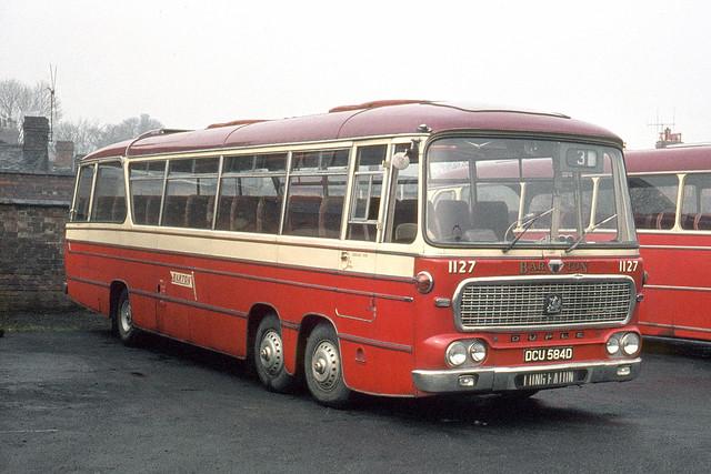 Barton Transport . 1127 DCU584D . Long Eaton garage yard , Derbyshire . Sunday morning 29th-March-1970.